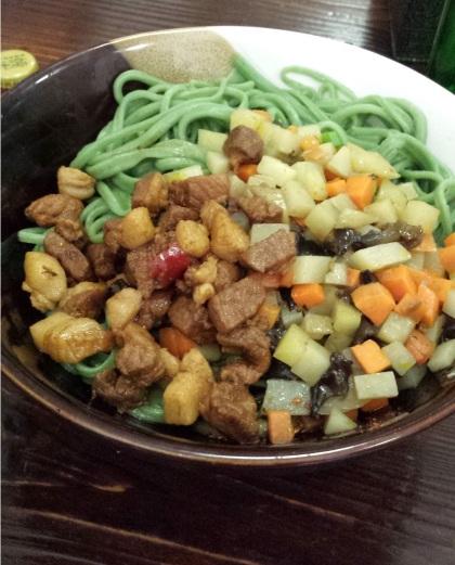Noodles típicos de Hunan