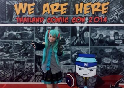 Agradable recepción al llegar a la Comic Con